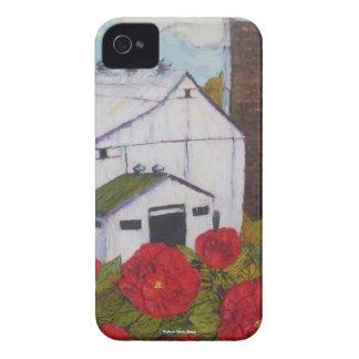 Rosas rojos de Lancaster y caja de Blackberry del  iPhone 4 Case-Mate Cobertura