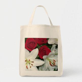 """""""Rosas rojos de los lirios blancos """" Bolsa"""