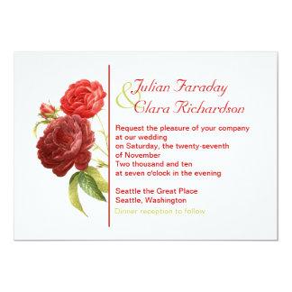 rosas rojos de moda que casan la invitación