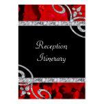 Rosas rojos de rubíes y el casarse de los remolino tarjetas de negocios