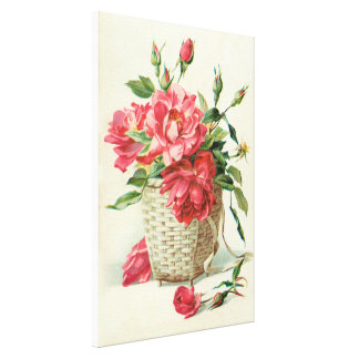 Rosas rojos decorativos lona estirada galerias