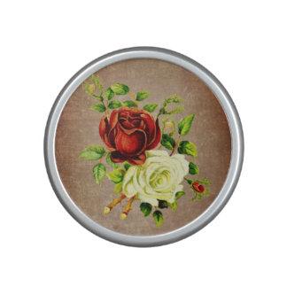 Rosas rojos del estilo del vintage y amarillos altavoz con bluetooth