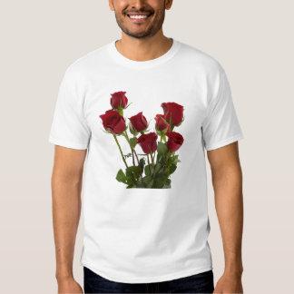 Rosas rojos del tronco largo camisas