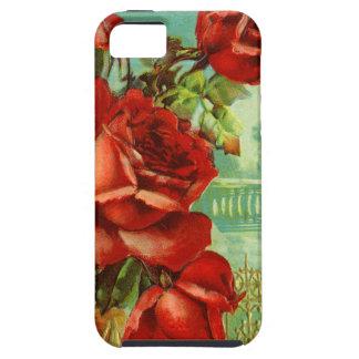 Rosas rojos del vintage iPhone 5 funda