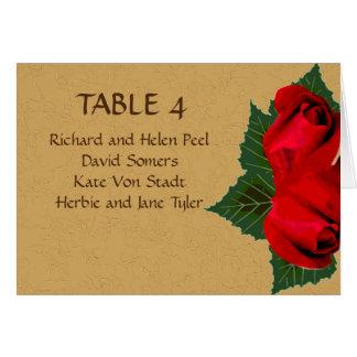 Rosas rojos del vintage que casan la tarjeta del