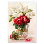 Rosas rojos del vintage y la respiración del bebé fotografia