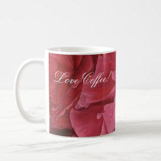 Rosas rojos elegantes románticos del amor taza clásica