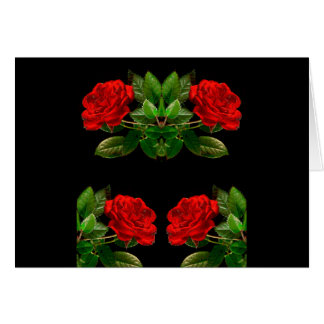 Rosas rojos en diseño abstracto floral del tarjeta de felicitación