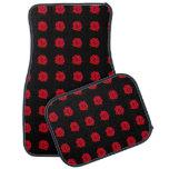 Rosas rojos en negro alfombrilla de coche