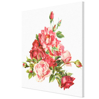 rosas rojos, flores, colecciones caseras de la impresiones en lienzo estiradas