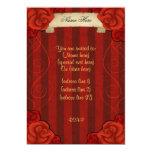 Rosas rojos góticos elegantes toda la ocasión anuncio personalizado