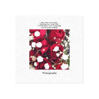 Rosas rojos impresión en lienzo