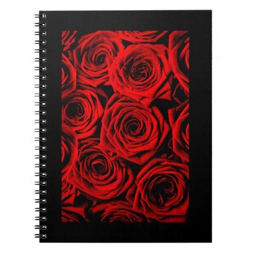 Rosas rojos libreta