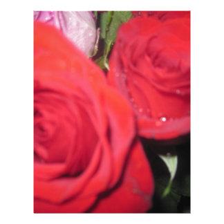Rosas rojos membrete personalizado