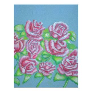 rosas rojos membrete a diseño