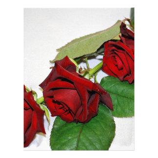 Rosas rojos membretes personalizados