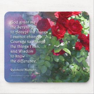 Rosas rojos Mousepad de la serenidad