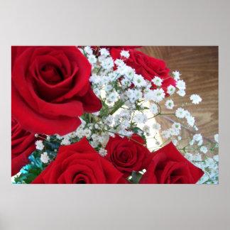 Rosas rojos impresiones