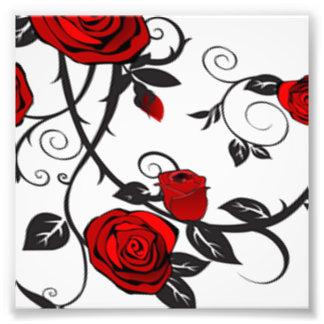 Rosas rojos arte con fotos