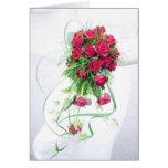 Rosas rojos que casan el ramo felicitacion