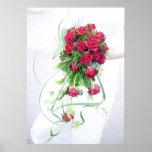 Rosas rojos que casan el ramo poster