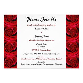 rosas rojos que casan las invitaciones - personali