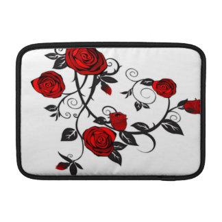 Rosas rojos que suben fundas MacBook