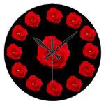 Rosas rojos relojes