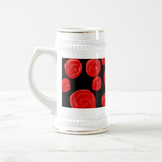 Rosas rojos románticos en fondo negro. Personaliza Taza
