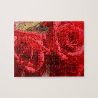 Rosas rojos - rompecabezas