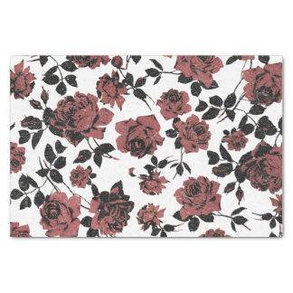 Rosas rojos rústicos del vintage papel de seda pequeño