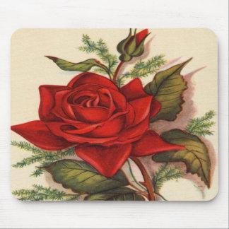 Rosas rojos alfombrilla de raton