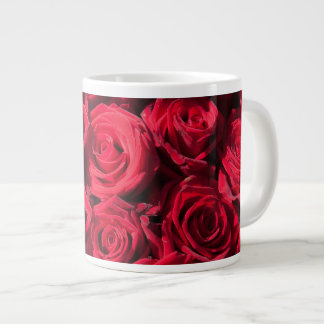 Rosas rojos taza extra grande