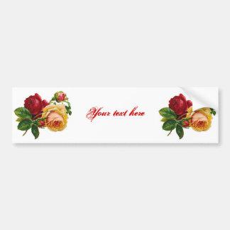 Rosas rojos y amarillos pegatina para auto