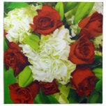 Rosas rojos y Carnations_ Servilletas De Papel