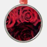 Rosas rojos y negros del lunar ornamentos de reyes magos