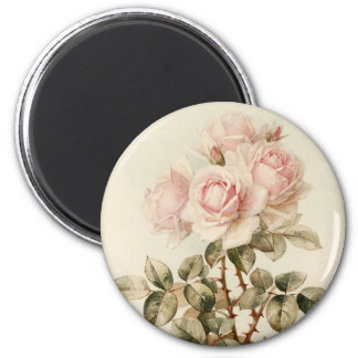 Rosas románticos del Victorian del vintage Imán Redondo 5 Cm