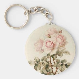 Rosas románticos del Victorian del vintage Llavero Redondo Tipo Pin