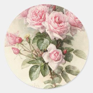 Rosas románticos del Victorian del vintage Pegatina