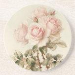 Rosas románticos del Victorian del vintage Posavaso Para Bebida