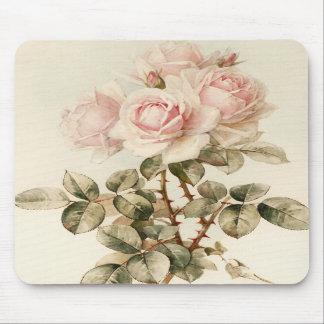 Rosas románticos del Victorian del vintage Tapetes De Raton