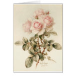 Rosas románticos del Victorian del vintage Felicitación