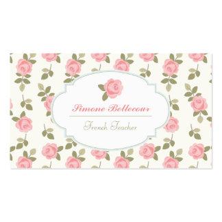 Rosas románticos del vintage de Alicia Tarjeta De Visita