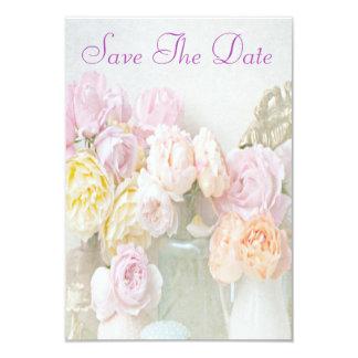 Rosas románticos en reserva de los tarros 80.os la invitación 8,9 x 12,7 cm