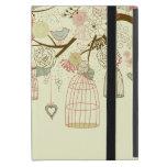 Rosas románticos, pájaros, birdcages, vintage flor iPad mini coberturas
