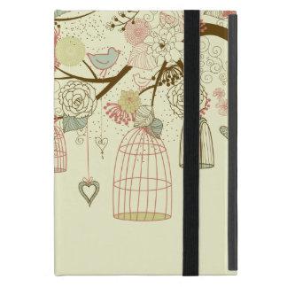 Rosas románticos pájaros birdcages vintage flor iPad mini coberturas