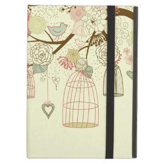 Rosas románticos, pájaros, birdcages, vintage flor