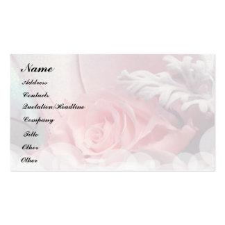 Rosas románticos tarjeta personal