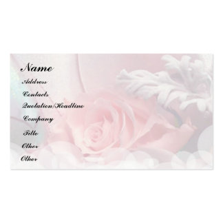Rosas románticos tarjetas de visita