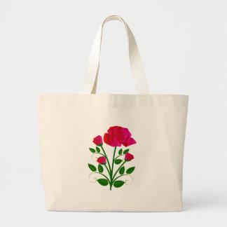 Rosas rosáceos hermosos bolsas